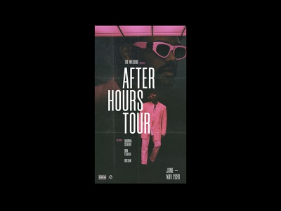 After Hours Tour Poster tour poster the weeknd typography type