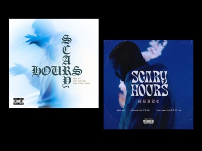 SCARY HOURS cover art music typography type design ovo scary hours cover drake