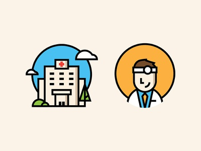 Healthcare health hospital doctor healthcare medical illustration icons