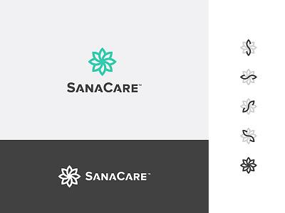 SanaCare care medical monogram typography type branding logo