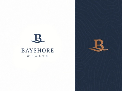 Bayshore Wealth wealth management finance wealth bayshore monogram typography type branding logo