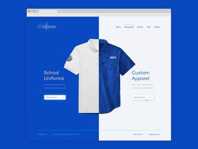 Uniforms Landing Page clothing apparel wip school uniforms shirts web web design layout website