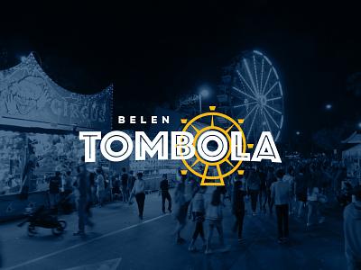 Belen Tombola event festival ferris wheel fair update redesign typography type branding logo