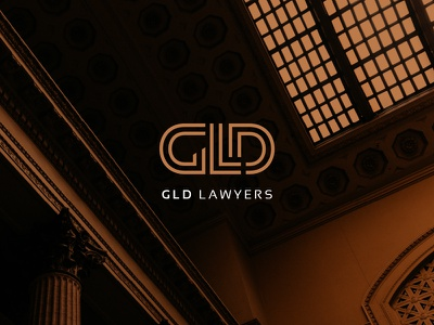 GLD Lawyers gold elegant lawyers monogram emblem typography type branding logo
