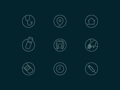 Care Center Icons v2 infinite illustration bus hospital medical icons