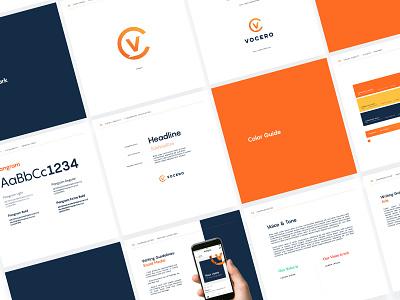 Vocero Brand Guidelines presentation corporate identity brand guidelines design layout monogram typography branding type logo