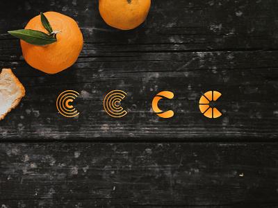 Vitamin C wip vitamin c orange monogram branding logo