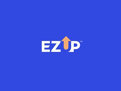 EZ-UP emblem medical monogram typography type branding logo
