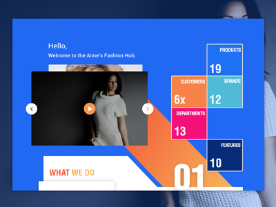 Free Time Doodle home landing page layout products grid design play fashion