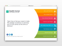 Health Corner - One Page Website