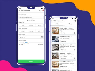 Find Roommates UI