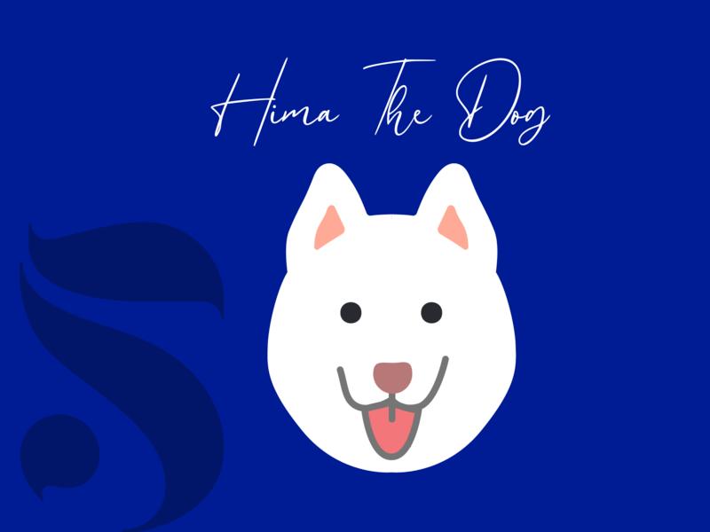21 DAYS 5 challenge illustration flat dog