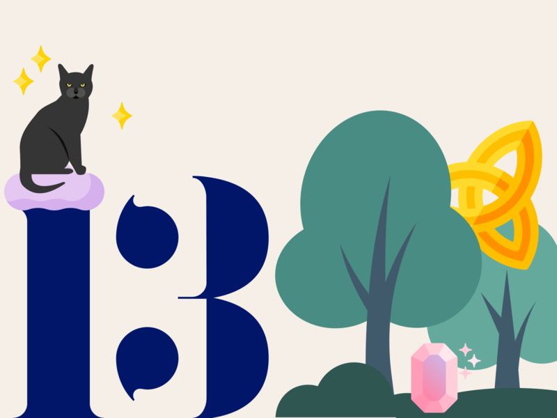 21 DAYS 13 creatures forest triquetra celtic cat magic