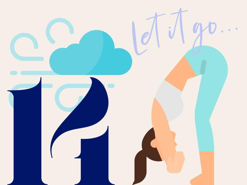 21 DAYS 14 flat challenge pass hang yoga pose breath let it go