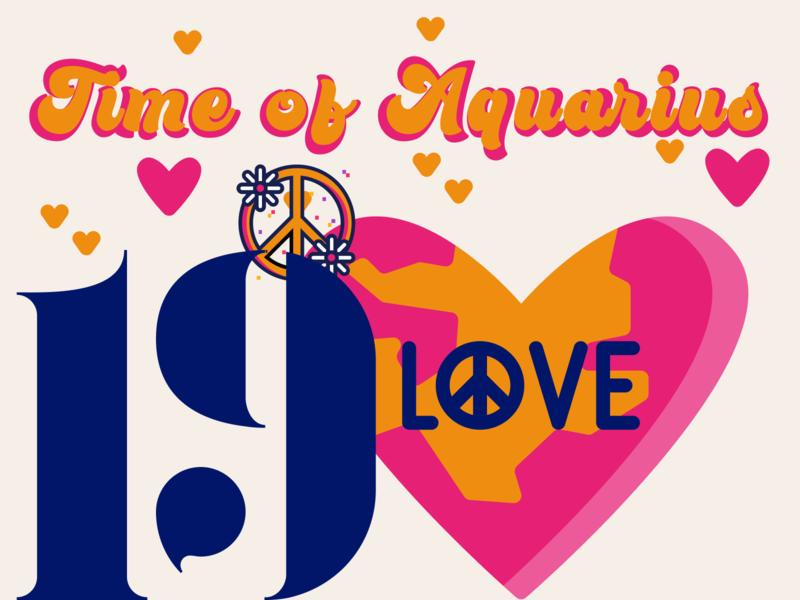 21 DAYS 19 visual design designchallenge newbirth new time earth love hippie time of aquarius