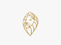 Logo Design Golden Lion