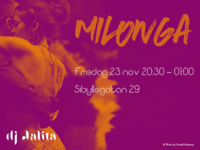 Milonga flyer