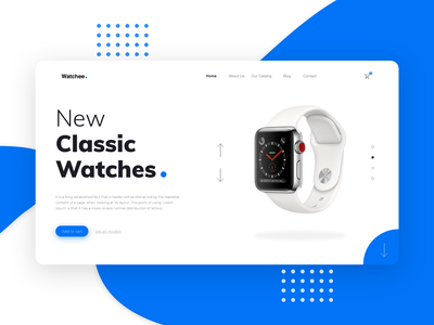 Watchee - New Classic Watches landing ui  ux webdesigner design uxuidesign watch store trend uidesign webdesign