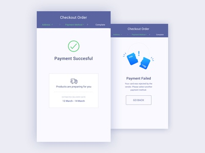 eCommerce Payment Succesful & Failed