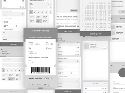 Movie Tickets Booking Wireframe
