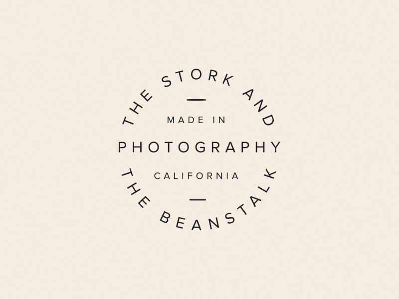 The Stork & The Beanstalk logo typography