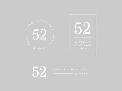 52 Week Project stencil type logo