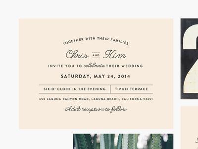 Wedding Suite wedding invitation