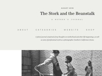 The Stork and the Beanstalk website detail dropdown navigation