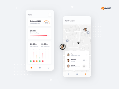 Avast - Parental Control Concept 1 design mobile app design ui concept ux mobile app mobile