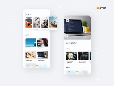 Avast - Parental Control Concept 2 mobile app design concept ui mobile app mobile