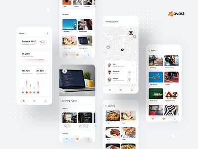 Avast - Parental Control Concept 3 ux concept mobile app design mobile app mobile ui
