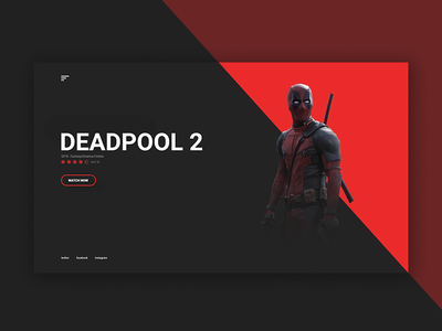 Deadpool 2 - movie landing page concept landing interaction websites website ux ui web webdesign