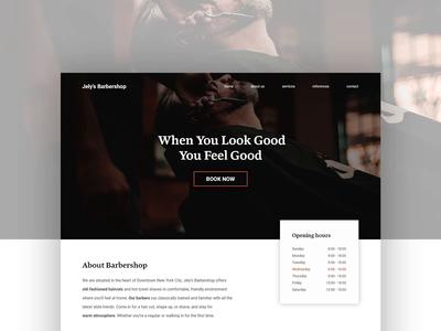 Barbershop desktop webdesign concept