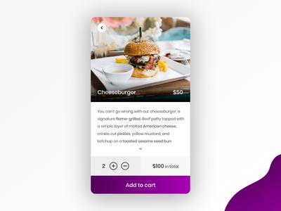 Restaurant mobile app design concept