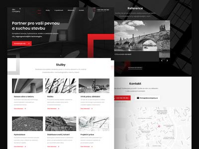 Construction company - web design