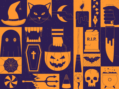 Halloween Time cat vampire pumpkin spooky halloween illustrator 2d flat design illustration design animation vector