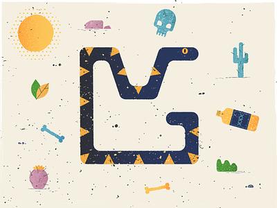 Snake sun snake illustrator 2d flat design illustration design animation vector