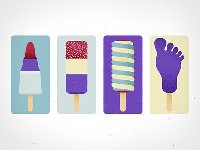 Ice Lollies icelollies icecream illustrator 2d flat design illustration design vector