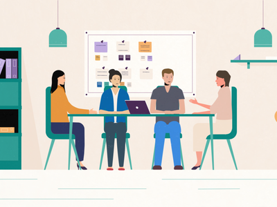 Motif meeting concept explainer illustrator 2d flat design illustration design vector