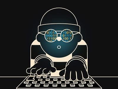 Hacker Loop banking data security hacking cinema4d 3d after effects gif loop illustrator 2d flat design illustration design animation