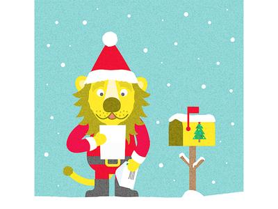 Lettre au Père Noël kids enfants letter lettre lion illustration christmas noel