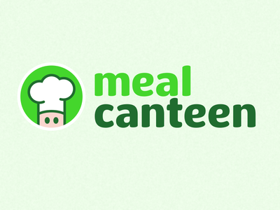 Meal Canteen logo hat green canteen meal kitchen food chef app web mobile branding logo