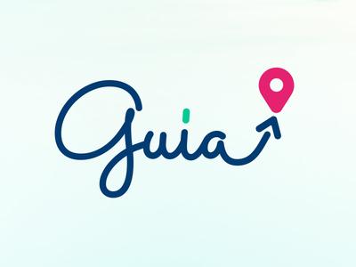 Guia - Wayfinder mobile app path mobile app map graphic design identity branding logo