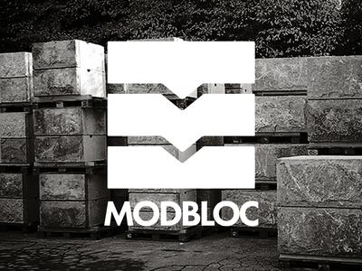 Modbloc Visual ID wall construction design identity branding logo