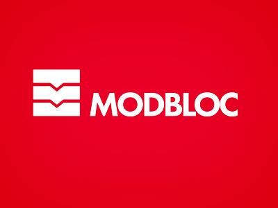 Modbloc Logo H Dribbble wall construction design identity branding logo