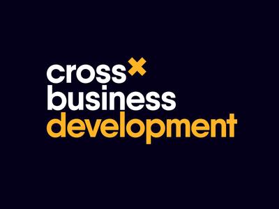 Cross-Business Development logo design identity visual design brand logo development business cross
