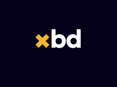 Cross-Business Development condensed logo design identity visual design brand logo condensed development business cross