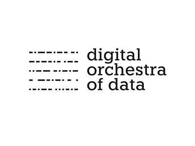 DOOD - Digital Orchestra Of Data logo design data digital brand design logo