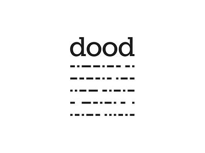 DOOD logo - Condensed condensed data digital brand design logo
