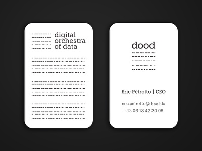 Digital Orchestra Of Data - Business Card data orchestra digital sheet music card business dood